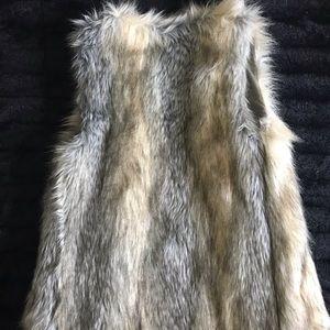 Xhilaration Jackets & Coats - Faux Fur Sleeveless Coat
